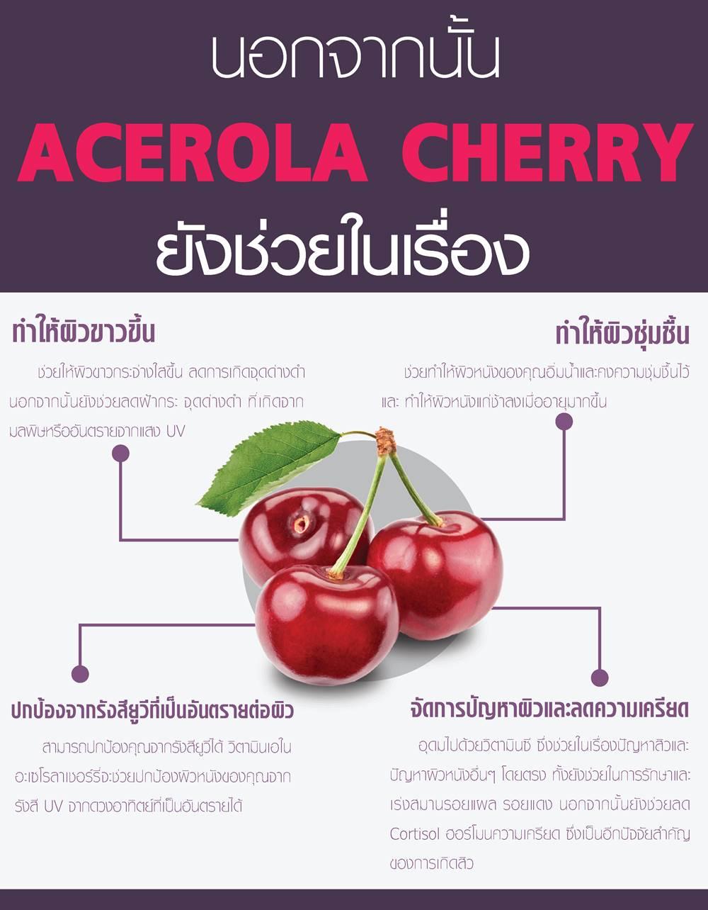 ประโยชน์ของ acerola cherry - อะ เซ โร ล่า เชอ ร์ รี่